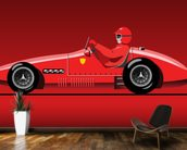 Retro Red Racer mural wallpaper kitchen preview