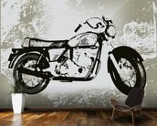 Motorcycle Grunge wallpaper mural kitchen preview