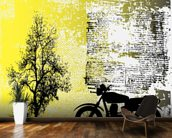 Retro Motorcycle mural wallpaper kitchen preview