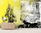 Retro Motorcycle mural wallpaper living room preview