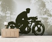 Vintage Motorcycle wall mural living room preview