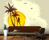 Tropics wall mural kitchen preview