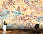 Vintage Beach Abstract wallpaper mural kitchen preview