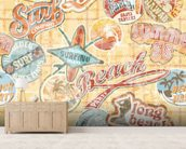 Vintage Beach Abstract wallpaper mural living room preview