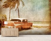 Sea Breeze wallpaper mural living room preview