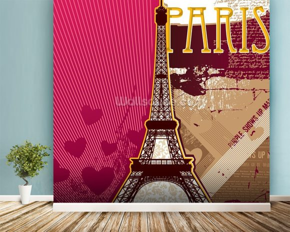 poster mural paris excellent paris opera painting brand art exposition with poster mural paris. Black Bedroom Furniture Sets. Home Design Ideas