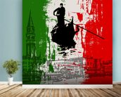 Italian Flag Abstract mural wallpaper in-room view