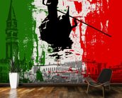 Italian Flag Abstract mural wallpaper kitchen preview