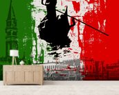 Italian Flag Abstract mural wallpaper living room preview