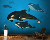 Orca Family wallpaper mural kitchen preview