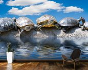 Turtle Meeting wallpaper mural kitchen preview