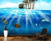 Underwater Scene wallpaper mural kitchen preview
