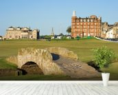 Swilcan Bridge, St Andrews Old Course wallpaper mural in-room view