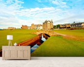St Andrews Swilcan Bridge mural wallpaper living room preview