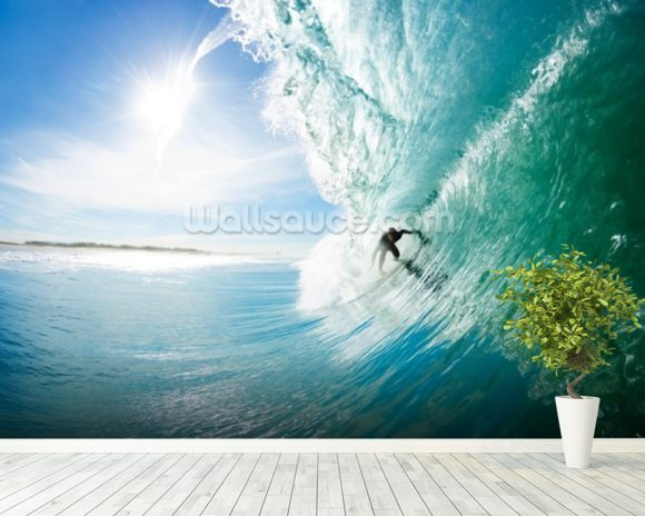 Surfer Wallpaper Mural Room Setting