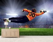 Football Goalkeeper wallpaper mural living room preview