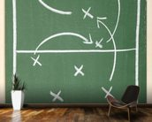 Football Chalkboard wall mural kitchen preview