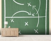 Football Chalkboard wall mural living room preview