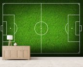 Football Pitch wallpaper mural living room preview