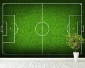 Football Pitch wallpaper mural in-room view