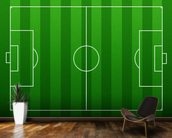 Football Pitch mural wallpaper kitchen preview