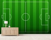 Football Pitch mural wallpaper living room preview