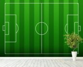 Football Pitch mural wallpaper in-room view