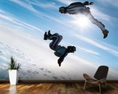 Freefall Skydiving wall mural kitchen preview