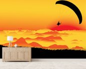 Paraglider wallpaper mural living room preview