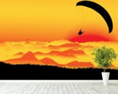 Paraglider wallpaper mural in-room view
