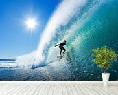 Surfing the Wall wall mural in-room view