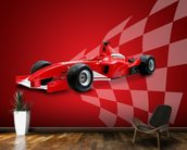 Red Racing Car wall mural kitchen preview