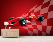 Red Racing Car wall mural living room preview