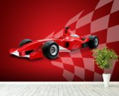 Red Racing Car wall mural in-room view