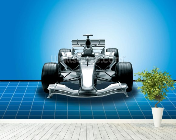 Racing Car wallpaper mural room setting