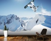Snowboarding wall mural kitchen preview