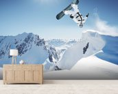 Snowboarding wall mural living room preview