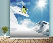 Snowboarder wallpaper mural in-room view