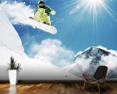 Snowboarder wallpaper mural kitchen preview