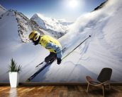Skier wall mural kitchen preview