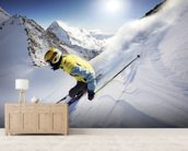 Skier wall mural living room preview
