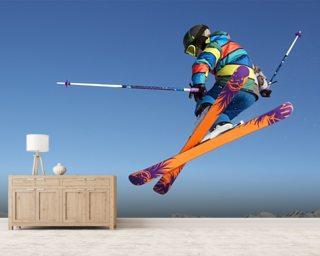Extreme Skiing wallpaper mural