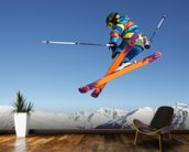 Extreme Skiing wallpaper mural kitchen preview