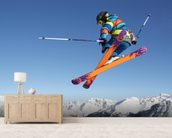 Extreme Skiing wallpaper mural living room preview