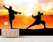 Martial Arts mural wallpaper living room preview