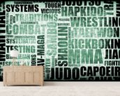 Martial Arts Word Typography wall mural living room preview
