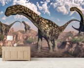 Argentinosaurus Dinosaurs wallpaper mural living room preview