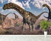 Argentinosaurus Dinosaurs wallpaper mural in-room view
