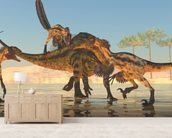 Tenontosaurus Attack wall mural living room preview