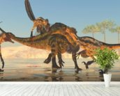 Tenontosaurus Attack wall mural in-room view